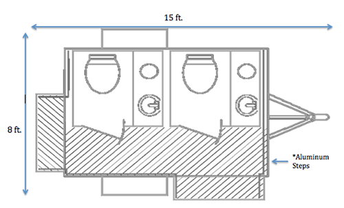VIP Restroom Rental Floorplan