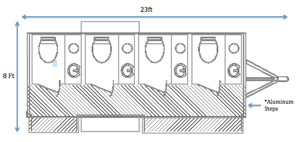 floor plan for upscale portable restroom