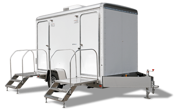 If you're looking for a small, elegant, and luxury portable restroom for a wedding or special event, this model will meet the needs of your event.