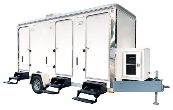 Are you having a large outdoor event? This luxury restroom trailer is designed to provide an excellent service for larger crowds. This trailer is built for top of the line event with a custom interior.