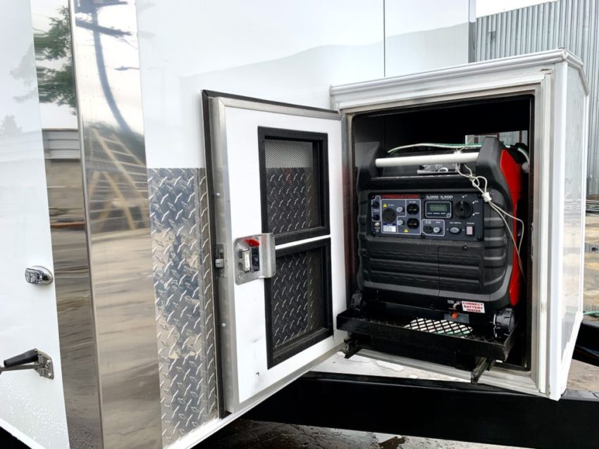 Generator of upscale portable restroom