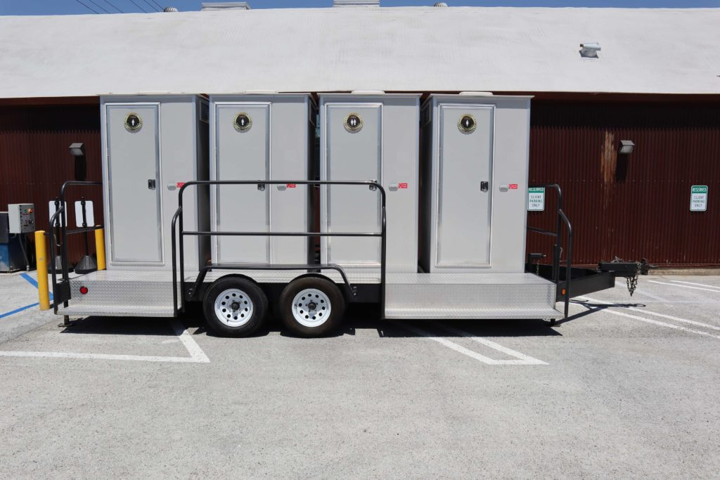 upscale portable restroom on location