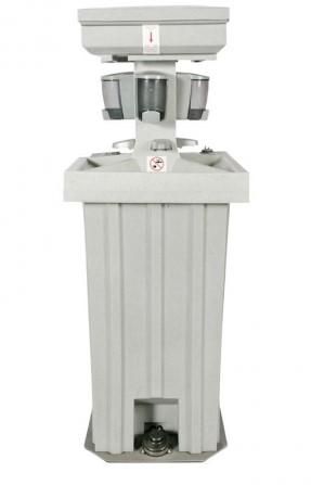 quad hand wash stations