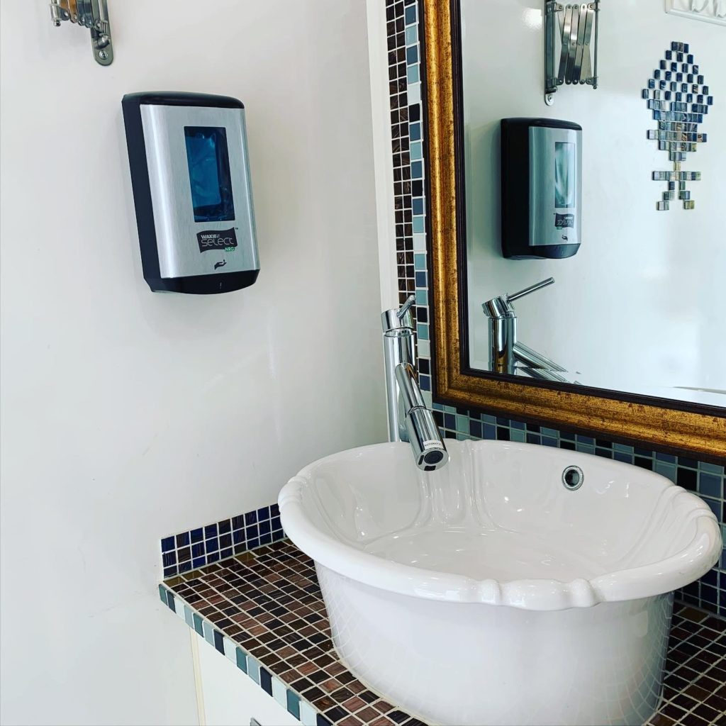 touchless portable restroom
